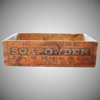 Kirk Soapowder Soap Powder Kirkoline Wood Shipping Crate Box