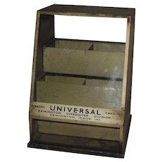 Remington Typewriter Ribbon Industrial Display Case Cabinet