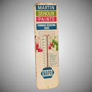 Lg Napa Auto Martin Senour Paint Advertising Metal Thermometer