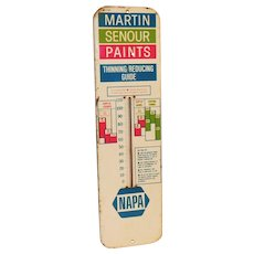 Lg Napa Auto Martin Senour Paint Advertising Metal Thermometer