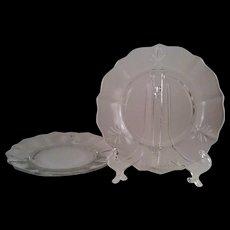 2 Baroque Bread & Butter Plates ~ Fostoria