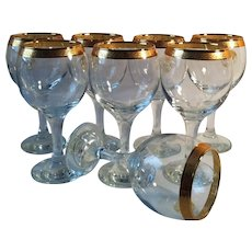 8 Pasabahce Sisecam Goblets ~ Turkey - Red Tag Sale Item