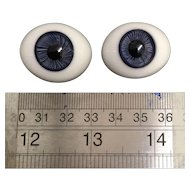 Large Antique paperweight eyes