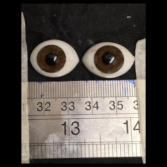 Antique Brown glass eyes