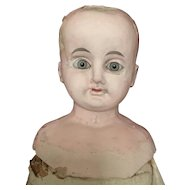 Large Antique Papermache doll.