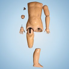 Large composition doll body parts