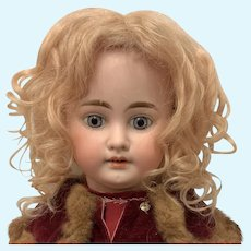 Antique Champagne blonde mohair wig