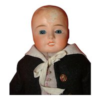 Antique  Paper Mache/Composition Boy Doll