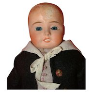 Antique  Paper Mache/Composition Boy Doll