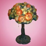 Pairpoint Apple Tree Lamp