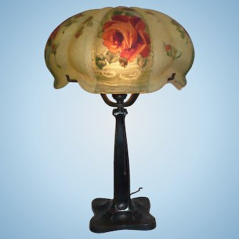 Pairpoint Green Venice lamp