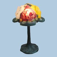 Pairpoint puffy 4 color miniature rose lamp