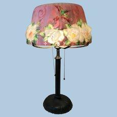 Pairpoint puffy Hummingbird & Rose Lamp