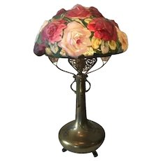Pairpoint Puffy Rose Bouquet Lamp