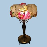 Pairpoint Puffy Rose Top Lamp