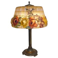 Pairpoint puffy Hummingbird lamp