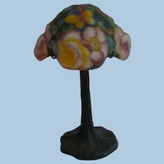 Pairpoint puffy miniature rose lamp.
