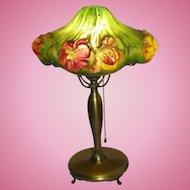 Pairpoint puffy tulip boudoir lamp