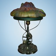 Pairpoint puffy water lily or lotus lamp