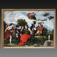 Italian School Late 18th/Early 19th Century Mythological Scene Oil on Canvas