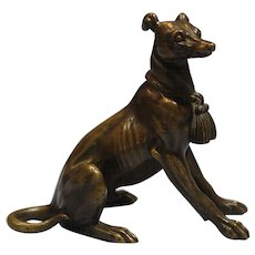 Austrian Patinated Bronze Figure of a Race Dog Circa 1900