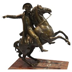 Patinated Bronze Statue/Figure of Napoleon Bonaparte of France late 19th Century