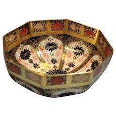 Royal Crown Derby Old Imari Design Painted Porcelain Bowl