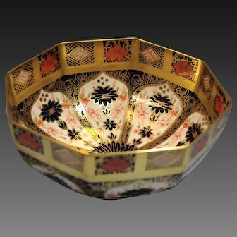 Royal Crown Derby Old Imari Design Painted Porcelain Bowl