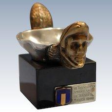 Sdela Sernas Mexican Sterling Silver Gilt Bronze Tennis Tournament Trophy 1940s