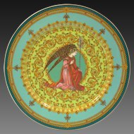 Rosenthal for Versace L'ange Gabriel Christmas 1995 Painted Large Porcelain Charger