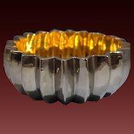 Italian San Marco Buccellati Ceramic/Porcelain Silver & Gold Bowl late 20th century