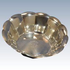 Tiffany & Co. Sterling Silver Twelve-Sided Polygon Form Serving Bowl C. 1947-56