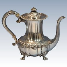 Howard & Co/Frank W. Smith Sterling Silver Repousse Tea/Coffee Pot New York Late 19th Century