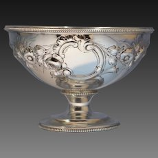 Antique Tiffany & Co. Sterling Silver Repousse Footed Bowl Tiffany Young Ellis Circa 1850s