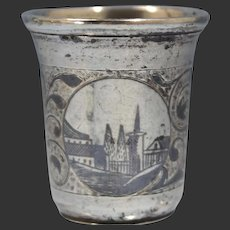 Russian 840 Silver Niello Inlay Hand Chased Shot Glass/Cup Circa 1859
