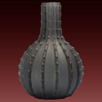 Rene Lalique ''Dentele'' Smoky Quartz Art Glass Vase Second quarter 20th century