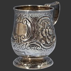 George Knight London Sterling Silver Child's Drinking Mug Circa 1820