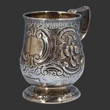 George Knight London Sterling Silver Child's Drinking Mug Circa 1820