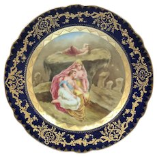 Royal Vienna Mythological scene of Female Nude Painted Porcelain Cabinet Plate