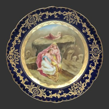 Royal Vienna Mythological scene of Female Nude Painted Porcelain Cabinet Plate