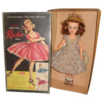 "Ideal Dolls 20"" Miss Revlon Doll with 2 Outfits and Container Box"