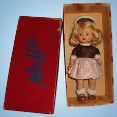 Nancy Ann Storybook Doll Muffie in Original #604 Outfit and Container Box