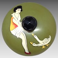 Fabulous French Deco Celluloid Powder Box