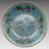 Large Plique a Jour Chinese Bowl