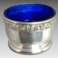 Sterling Salt with Cobalt Glass Lining
