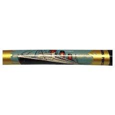 Queen Mary Souvenir Pencil c 1950's