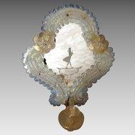 Beautiful Pair of Italian Deco Glass Sconces