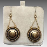 Victorian Exquisite Pique/Gold Earrings