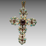 Austro Hungarian Cross with Stones
