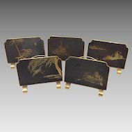 Set of Japanese Damasene Placecard Holders